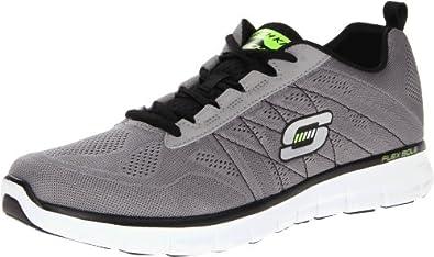 Skechers Men's Synergy Power Switch Memory Foam Fashion Sneaker,Light Grey/Black,6.5 M US