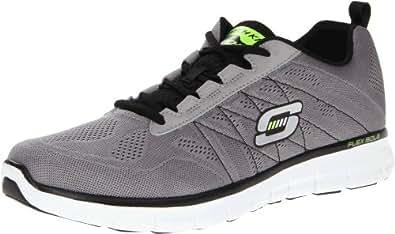 Skechers Sport Men's Synergy Power Switch Memory Foam Fashion Sneaker,Black/White,6.5 M US