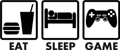 Eat,Sleep,Game: Affiche ton côté Gamer, gamers, LifeStyle,  geek