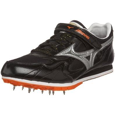 Mizuno Unisex Triple Jump/Pole Vault Track Footwear,Anthracite/Silver-Red Orange,US Women's 7.5/ US Men's 6 M
