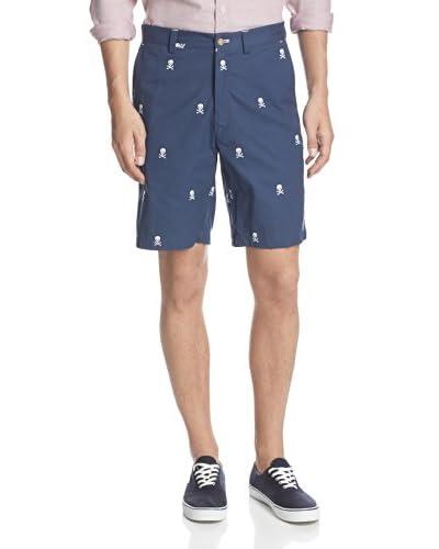 J. McLaughlin Men's Devon Cotton Twill Embroidered Shorts