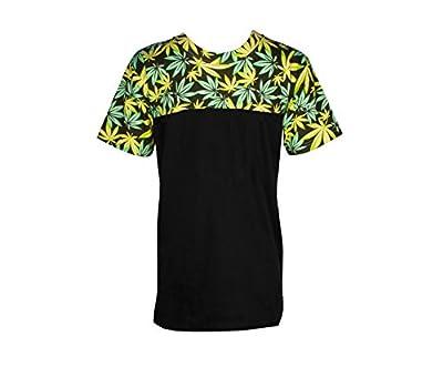 Green Leaf Weed Print Marijuana Cannabis Tee T Shirt T-shirt