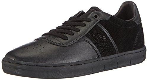 Björn Borg Footwear B100 LOW LEA M, Low-Top Sneaker uomo, Nero (Schwarz (0999 BLACK)), 40