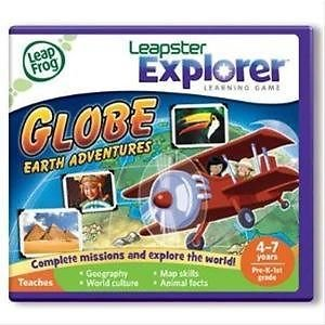 Leapfrog Explorer Learning Game: Globe: Earth Adventures 39048 (Works With Leappad & Leapster) Toy / Game / Play / Child / Kid