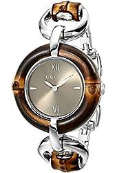 Gucci Women's YA132402 Bamboo Brown Sun-Brushed Dial Watch