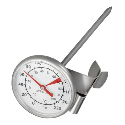 Andrew James Milk Frothing Thermometer, High Quality Grade 304 Stainless Steel