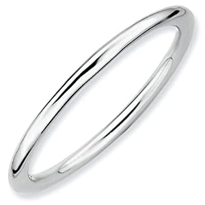 Polished Stackable Ring 1.5mm - Size 9
