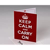 Keep Calm Blank Card