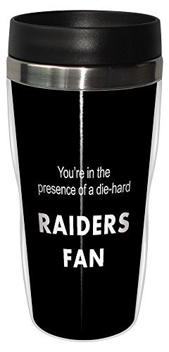 Tree-Free Greetings sg24130 Raiders Football Fan Sip 'N Go Stainless Steel Lined Travel Tumbler, 16-Ounce