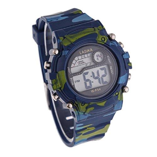 Malloom® Bambini Ragazzi Camouflage Nuoto Sport orologio da polso digitale impermeabile