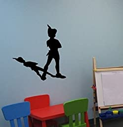 Peter Pan Wall Decal Never Land Sticker Peter Pan Decor Children Decor Nursery Room Decor Boys Bedroom Girls Room Playroom Fairies Mural (20 X 22 inches)