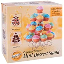Wilton 307-250 Cupcakes n More 24-Count 4-Tier Mini Dessert Stand