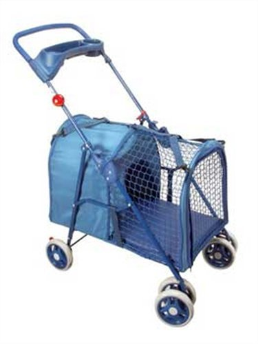 Four Paws Blue Fresh Air Pet Stroller