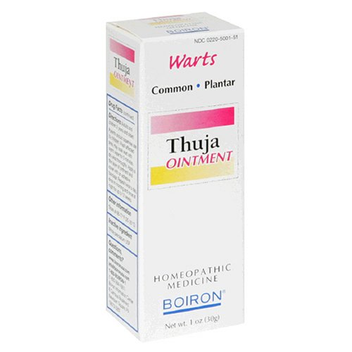 Boiron Homeopathic Medicine Thuja Ointment, 1-Ounce Tubes (Pack of 3)