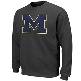 NCAA University of Michigan Mens Change History Crew Neck Fleece by Majestic