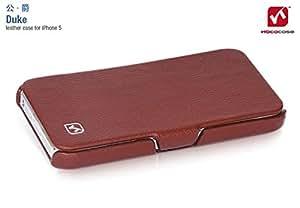 HOCO Duke iPhone 5 Genuine Leather Side Flip Case - Brown by Maikai