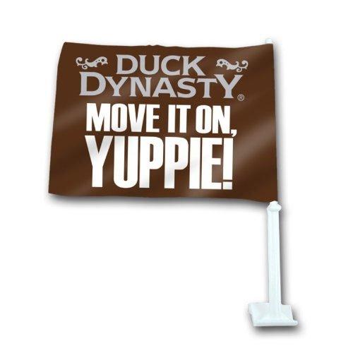 """Duck Dynasty """"MOVE IT ON YUPPIE!"""" Car Flag - 1"""