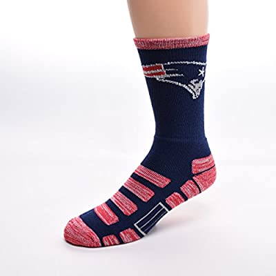 For Bare Feet New England Patriots Patches Socks, Medium