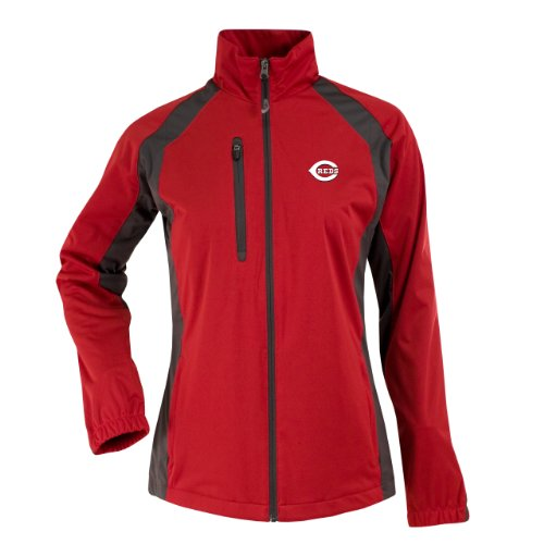 MLB Cincinnati Reds Women's Rendition Jacket, Dark Red/Gunmetal, Large at Amazon.com