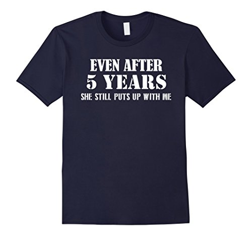 Men's Funny Anniversary Gifts For Him - 5 Years Anniversary Gifts Medium Navy