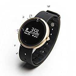 Jarv Advantage HR IPX7 Water Resistant Smart Watch Fitness Tracker and Sleep Monitor with Heart Rate Monitor Hi-Res OLED Display Bluetooth Wireless Sync and 10 Day Battery- 42mm Size