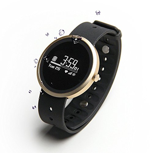 Jarv Advantage + HR IPX7 Water Resistant Smart Watch, Fitness Tracker and Sleep Monitor with Heart Rate Monitor, Hi-Res OLED Display, Bluetooth Wireless Sync and 10 Day Battery- 42mm Size