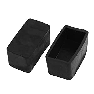 Table Leg Caps Square ... 10 Pcs 20mm x 40mm Rectangular Furniture Leg Rubber Foot Covers