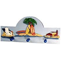 Beach Theme Wall Hanging Kids Coat and Hat Rack
