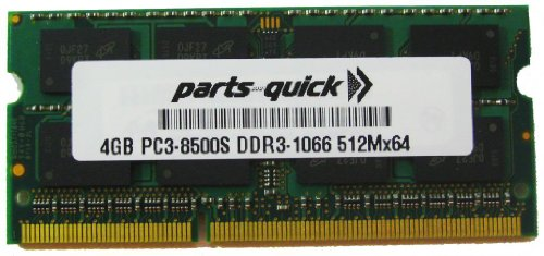 Click to buy 4GB Memory for Toshiba Portege M780-S7214 DDR3 PC3-8500 RAM Upgrade (PARTS-QUICK BRAND) - From only $46.99