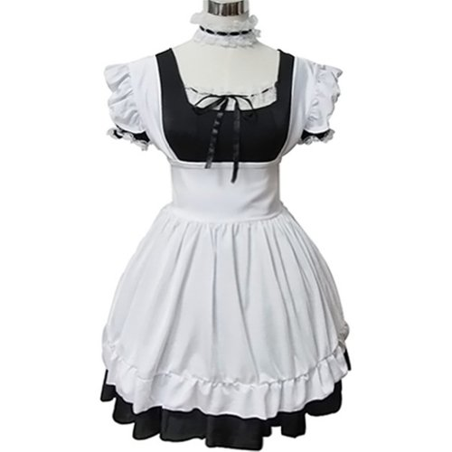 Sexy Gothic Vintage Lovely French Lolita Maid Cosplay Costumes