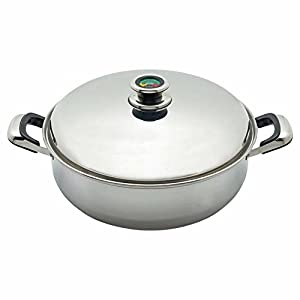 Thermo Control 9element Deep Skillet with High Dome Cover From Chefs Secret By Maxam