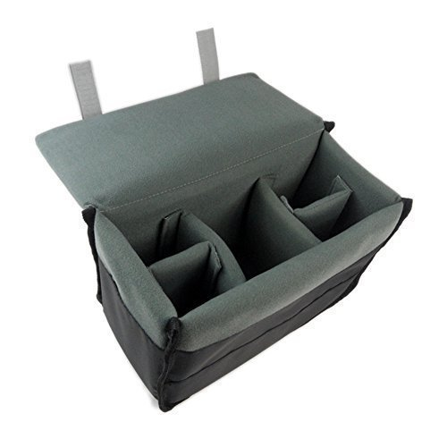 DRF DSLR Camera Case Insert Padded Liner Nylon Pouch for Messenger Bag or Backpack BG-167 (Grey) (Padded Camera Insert Small compare prices)