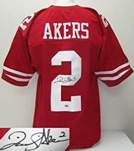 David Akers Autographed San Francisco 49ers Custom Red Jersey SI