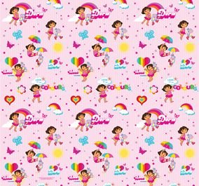 Dora the Explorer Wrapping Paper - 4m Gift Wrap Roll