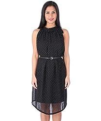 Ashtag Black Georgette Dress
