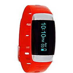 Everlast TR7 Fitness Tracker and Heart Rate Monitor Red