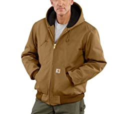 Carhartt Men\'s Quilted Flannel Lined Duck Active Jacket J140,Brown,Large
