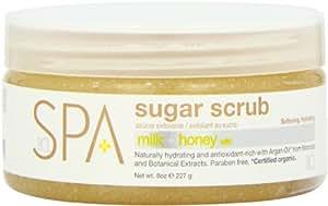 Bio Creative Lab Spa Sugar Scrub, Milk Honey and White Chocolate, 8 Ounce