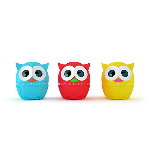 Kikkerland Owl Kitchen Timers, Assorted Colors (Kitchen Timer Bird compare prices)
