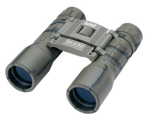 Bushnell PowerView 16x 32mm Compact Folding Roof Prism Binocular (Camouflage)