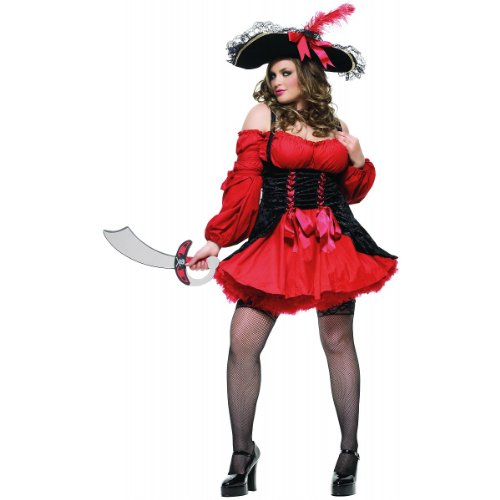 Vixen Pirate Wench Costume - Plus Size 3X/4X - Dress Size 22-26