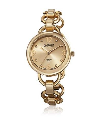 August Steiner Watch Ladies Diamond Dial Quartz Bracelet Watch Oro