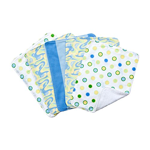 Trend Lab Dr. Seuss 5 Piece Burp Cloth Set, Oh The Places You'll Go, Blue - 1