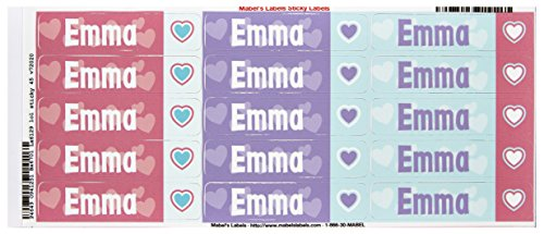 Mabel'S Labels 40845138 Peel And Stick Personalized Labels With The Name Emma And Heart Icon, 45-Count front-722317