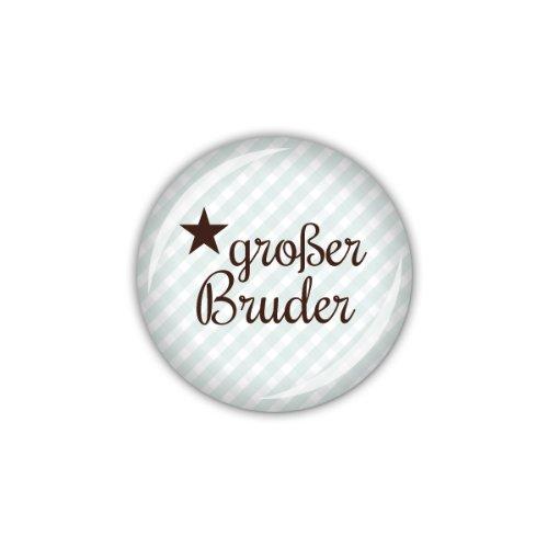 """lijelove Buttons, 04-01K4, """"Vichy"""" großer Bruder, blau, 25 mm"""