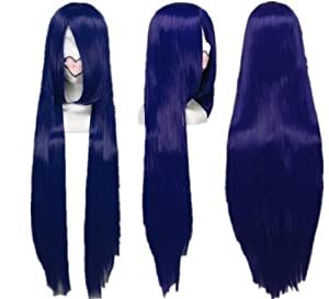 Azrael Black Butler Wig Dark Blue Long Straight Cosplay Wig Costume Wigs lacefront wig party wig