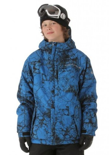 686 Mannual Cracked Insulated Jacket – Boys' Blue, XL