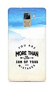 AMEZ you are more than the sum of your mistakes Back Cover For Huawei Honor 7