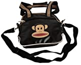 PAUL FRANK Small shoulder bag black monkey - Size: 30.3 x 22.5 cm - 100% Vinyl