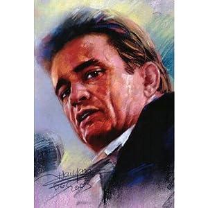 (11x17) Johnny Cash MAN IN BLACK live poster Folsom Prison RARE